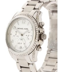 Michael Kors | Metallic Blair Mk5165 Silver Chronograph Watch | Lyst