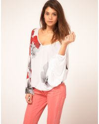 Miss Sixty | White Printed Batwing Top | Lyst