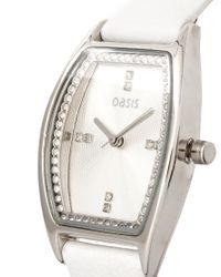 Oasis | White Leather Watch | Lyst