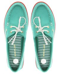 River Island - White Canvas Boat Shoes - Lyst