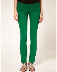 Sass & Bide | Green Sass and Bide Rumour Has It Super Skinny Cropped Jeans | Lyst