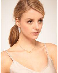 Swarovski - Metallic Orelia Gold Tiny Hearts Pendant Necklace - Lyst