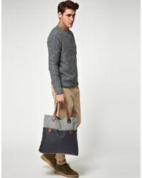 Ted Baker - Blue Waxed Canvas Shopper for Men - Lyst