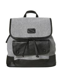TOPSHOP | Black Grey Jersey Backpack | Lyst
