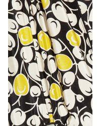 Anna Sui - Black Printed Silk Crepe De Chine Blouse - Lyst