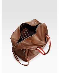 Bally - Brown Leather Duffle for Men - Lyst