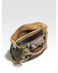 Burberry | Brown Small Cotton Tote Bag | Lyst