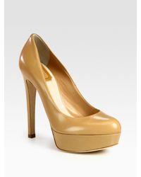 Dior | Metallic Miss Leather Platform Pumps | Lyst