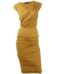 Donna Karan | Yellow Donna Karan Dress | Lyst