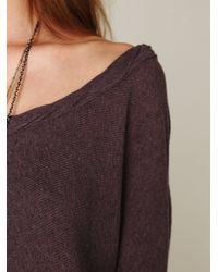 Free People - Purple Boxy Oversized Sweater - Lyst