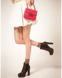 Love Moschino - Pink Chain Handle Bag - Lyst