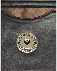 Love Moschino - Pink Satin Print Bag - Lyst