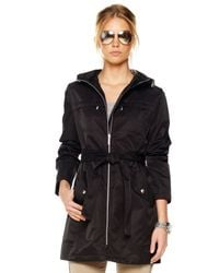 Michael Kors | Black Packable Zip Trench | Lyst