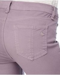 Rag & Bone - Purple Zipper Capri - Lavender - Lyst