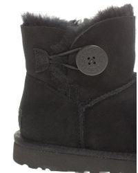UGG | Brown Mini Bailey Button Short Boot | Lyst