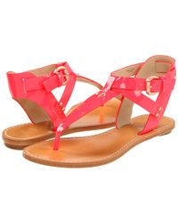 Belle By Sigerson Morrison | Red Randy Sandals | Lyst