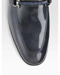 Ferragamo | Black Gigo Patent Leather Moccasins for Men | Lyst