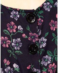 Hilfiger Denim | Blue Floral Jumpsuit | Lyst