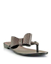 Melissa | Brown Harmonic Bow - Black Polka Dota Jelly Thong Sandal | Lyst
