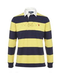Polo Ralph Lauren | Blue Striped Rugby Jersey for Men | Lyst