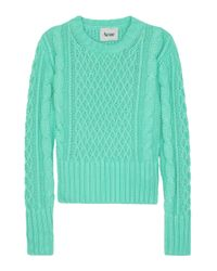 Acne Studios | Blue Lia Cable Knit Sweater | Lyst