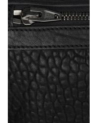Alexander Wang | Black Dumbo Fold-over Leather Clutch | Lyst