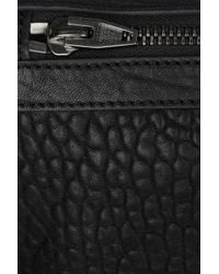 Alexander Wang - Black Dumbo Fold-over Leather Clutch - Lyst