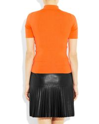 Alexander Wang | Orange Stretch-Jersey Polo Shirt | Lyst