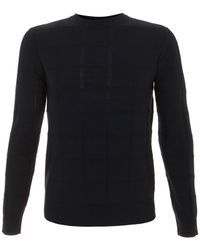 A.P.C. | Blue Navy Jacquard Square Knitted Jumper for Men | Lyst
