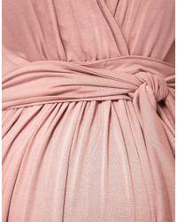 ASOS - Purple Asos Maternity Maxi Dress with Grecian Drape Detail - Lyst