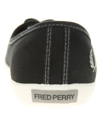 Fred Perry - White Bell Canvas Plimsolls - Lyst