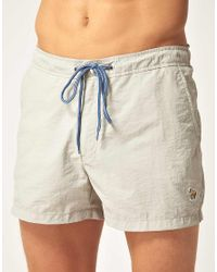 Paul Smith | Natural Short Slim Swim Shorts for Men | Lyst