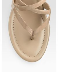 Cole Haan - Natural Air Jaynie Patent Leather Wedge Thong Sandals - Lyst