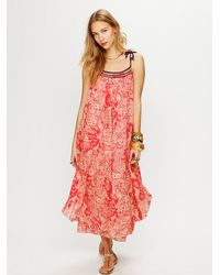 Free People | Red Bandana Maxi Dress | Lyst