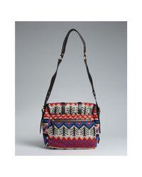 Badgley Mischka - Red Knit Karyn Peruvian Crossbody Bag - Lyst