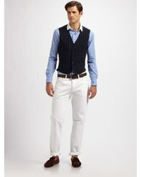 Polo Ralph Lauren | Black Skylark Pinstriped Vest for Men | Lyst