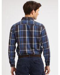 Polo Ralph Lauren | Blue Matlock Plaid Twill Workshirt for Men | Lyst