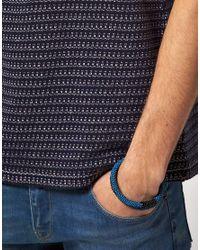 ASOS - Blue Fuji Bracelet for Men - Lyst