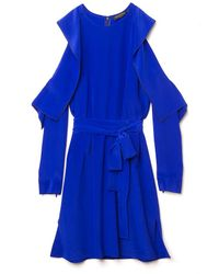 Vionnet | Blue Shoulder Cut-out Dress | Lyst