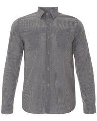 Folk - Blue Navy Gingham Two Pocket Shirt for Men - Lyst