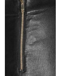 Gucci - Black Stretch-Leather Leggings - Lyst