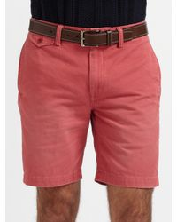 Polo Ralph Lauren - Red Chino Officers Shorts for Men - Lyst