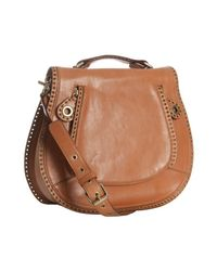 Rebecca Minkoff | Luggage Brown Leather Vanity Crossbody Bag | Lyst