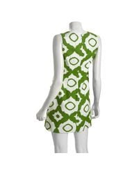 Shoshanna - Green Sleeveless Ikat Dress - Lyst