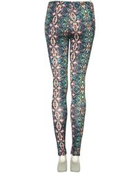 TOPSHOP | Green Kaleidoscope Print Leggings | Lyst
