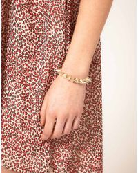 ASOS | Gold Asos Spike Stretch Bracelet | Lyst