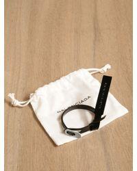 Balenciaga - Black Bracelet for Men - Lyst