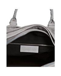 Balenciaga - Gray Grey Distressed Lambskin Convertible Travel Bag for Men - Lyst