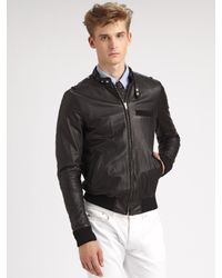 Band of Outsiders | Black Leather Jacket for Men | Lyst