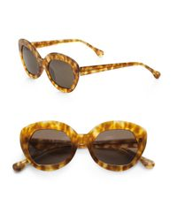 Elizabeth and James | Yellow Taylor Plastic Cateye Sunglasses | Lyst